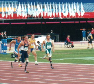 Runners at Sydney Paralympics